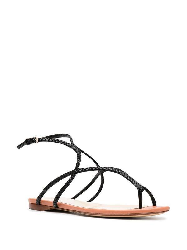 FRANCESCO RUSSO Braided Leather Sandal