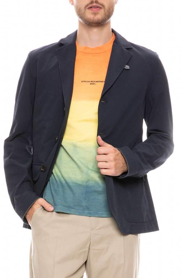Oliver Spencer Brompton 3M Commuter Jacket - NAVY/GREEN STRAP