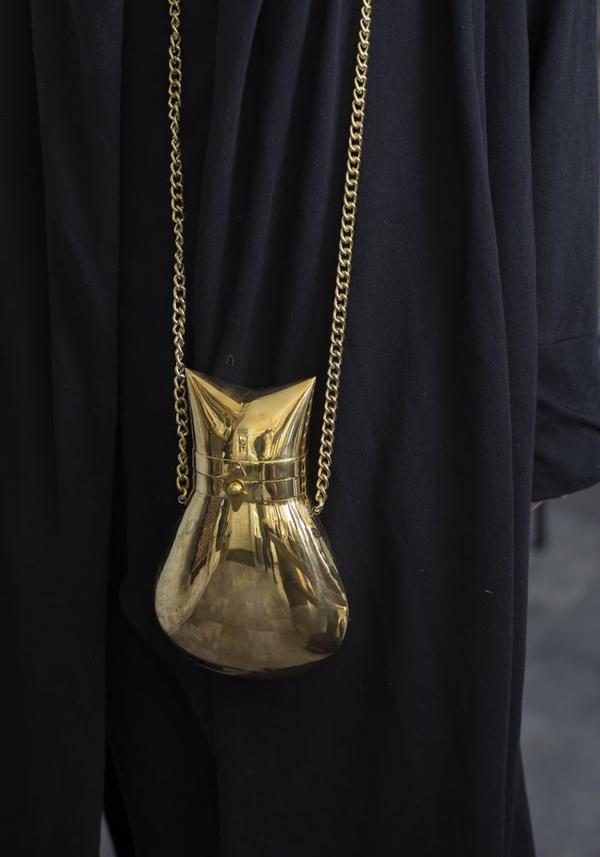 Bisjoux Brass Bag