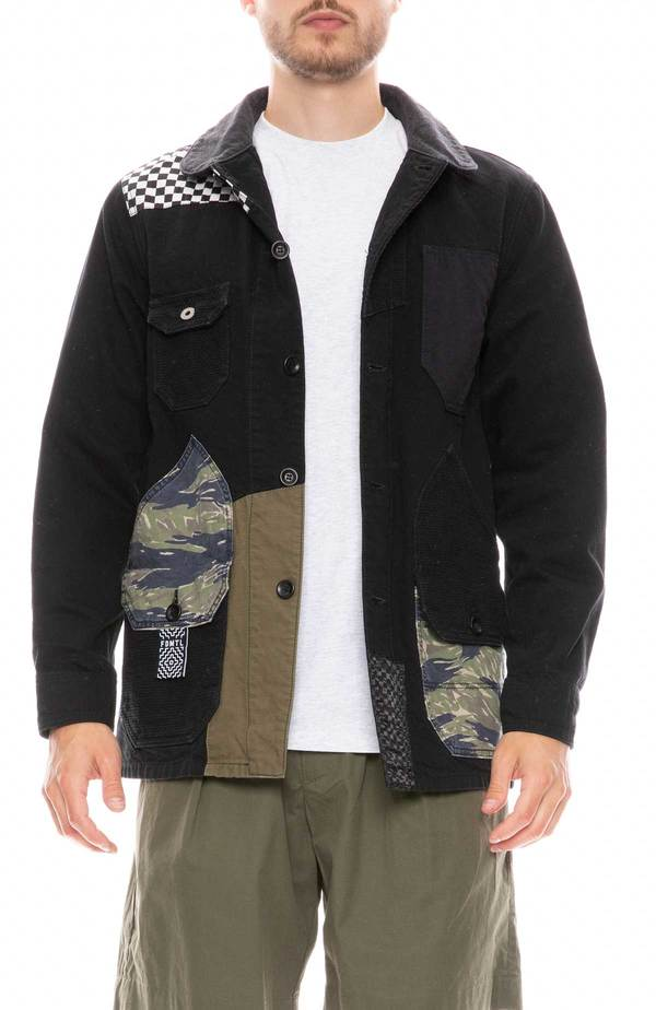 FDMTL Patchwork Coverall jacket - RINSE BLACK