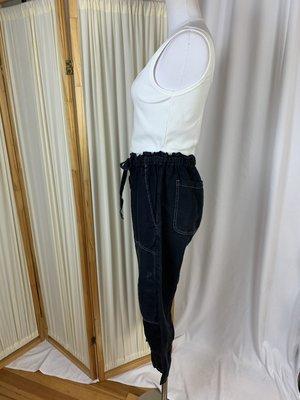 [pre-loved] Current/Elliot Drawstring Linen Cargo Pants - Denim