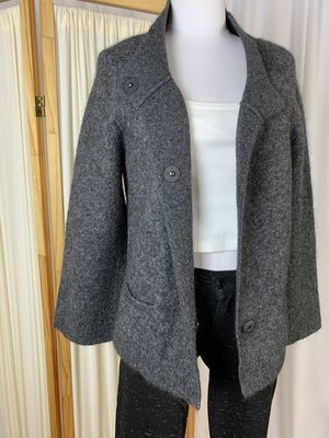 [pre-loved] Eileen Fisher Cropped Cardigan - Gray
