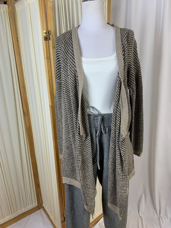 [pre-loved] Eileen Fisher Striped Cotton Cardigan