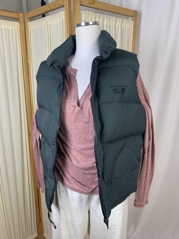 Mountain Hardwear Green Down Vest (S/M)