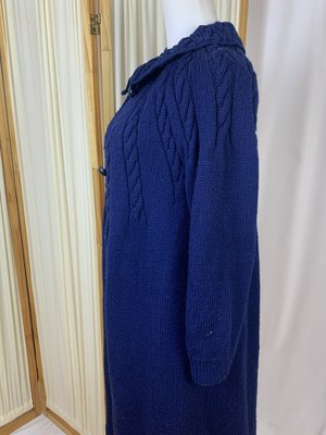 Vintage Cable Knit Coat/Sweater - Blue