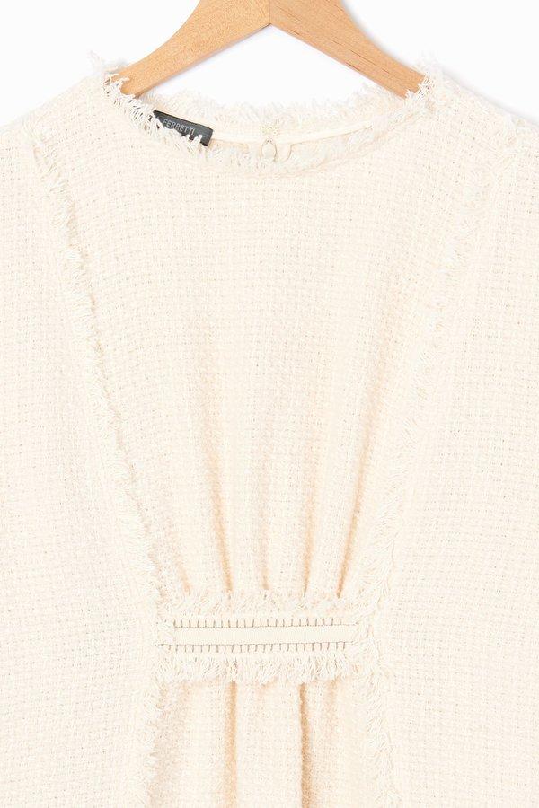 Alberta Ferretti Mat Minidress - Ivory