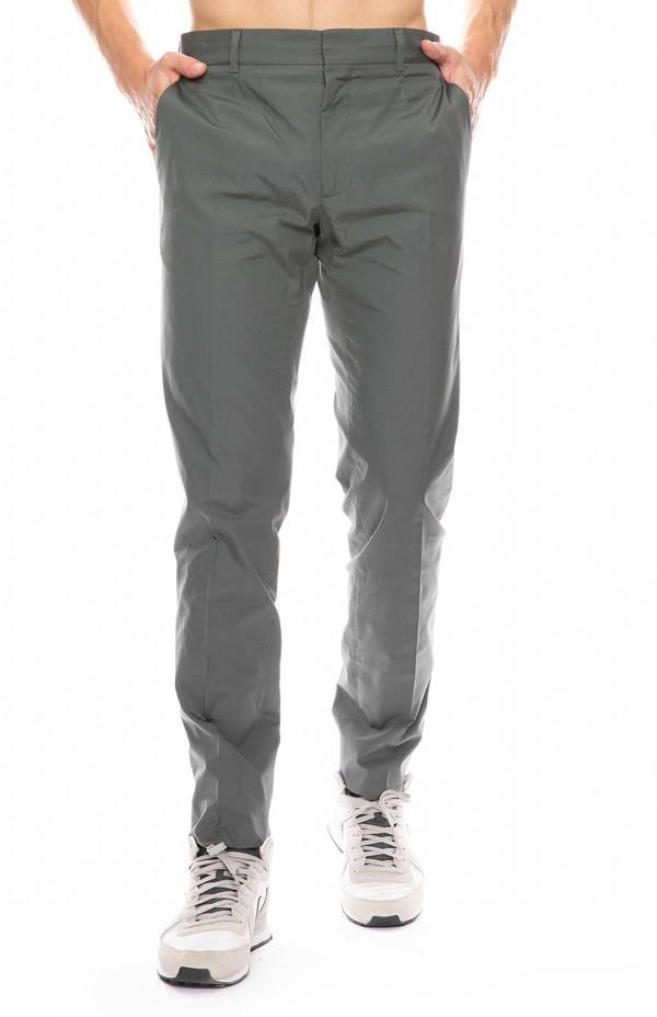 STELLA MCCARTNEY Troy Cotton Poplin Pant - GREEN ASH 1175