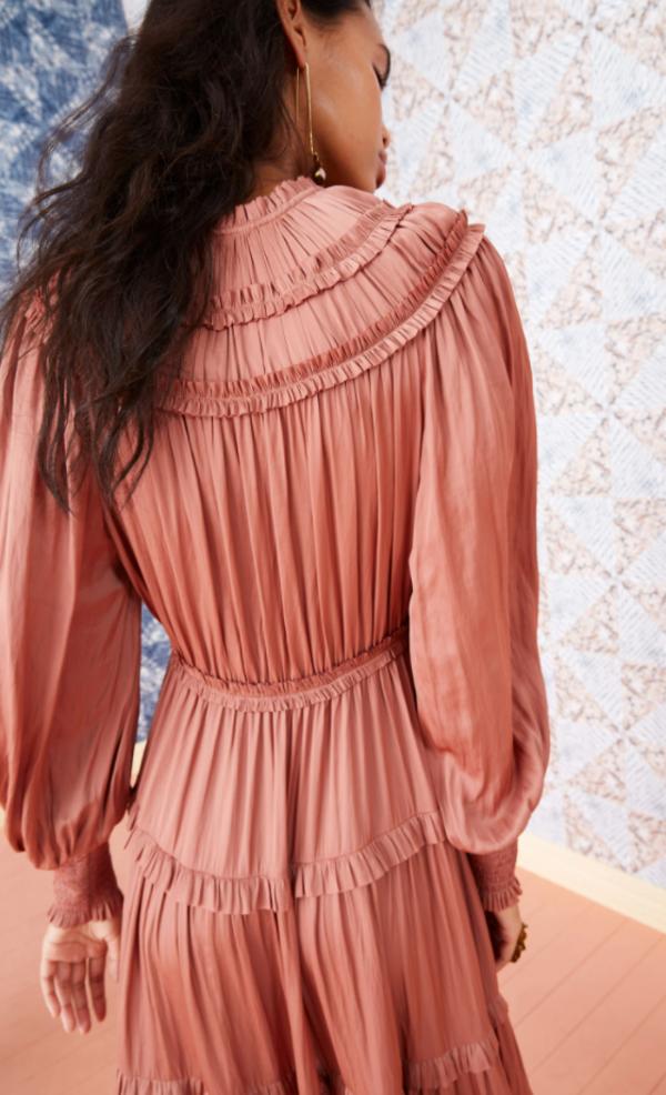 ulla johnson  dress - copper
