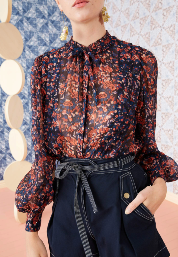 Ulla Johnson world edith cosmos blouse