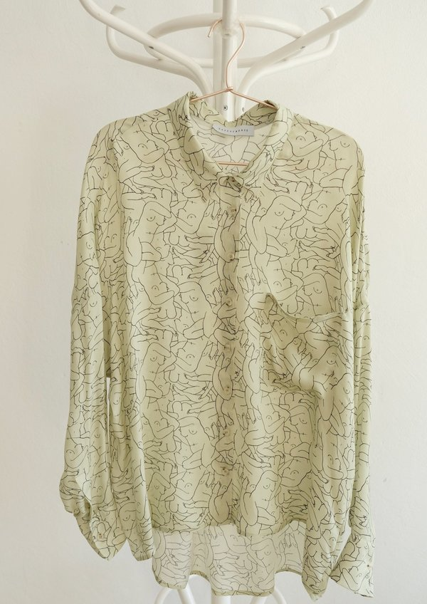 SAMPLE - Monday Marwa Blouse Sage (Discolored items)