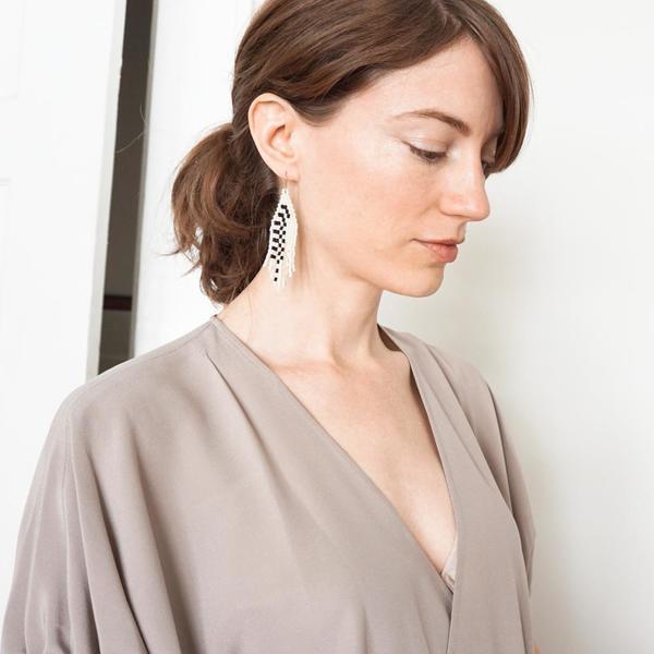 Pixel Path Earrings