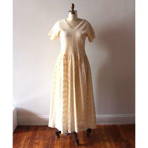 Caron Callahan Pico Cotton Lace Dress - Ivory