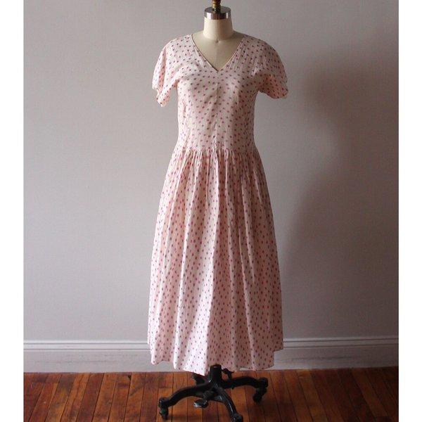 Caron Callahan Pico Dress - Clipped Dot Magenta