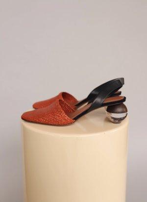 Dear Society Neous Sculptural Slingbacks Heel - Brown/Black