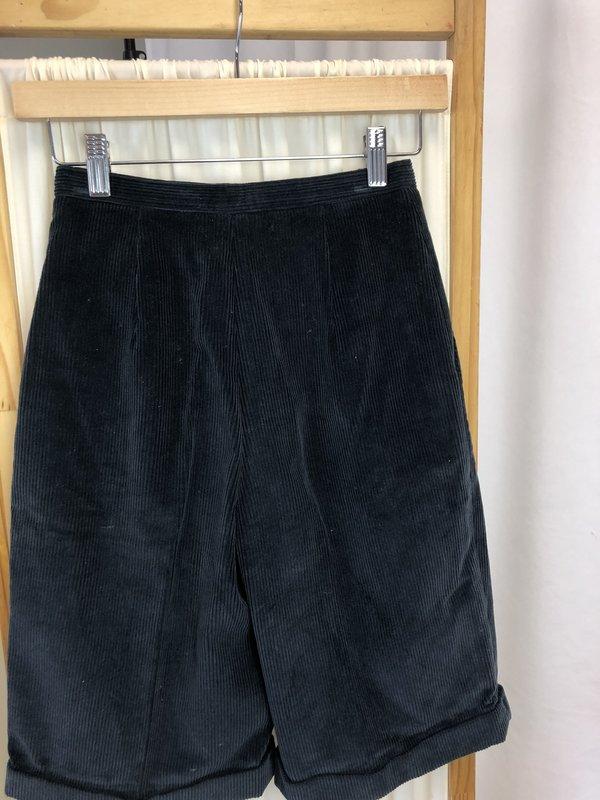 Vintage Dior High Rise Cord Shorts - Navy (XS/0)
