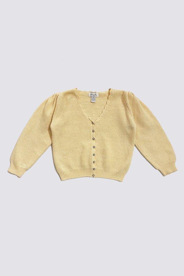 Vintage Cotton Cardigan - Cream
