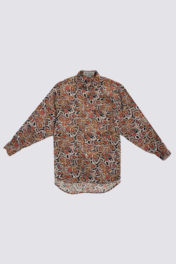 Vintage 3/4 Sleeve Button Up - Dense Paisley