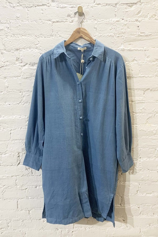 Umber & Ochre Amyrah Shirt Dress - Indigo