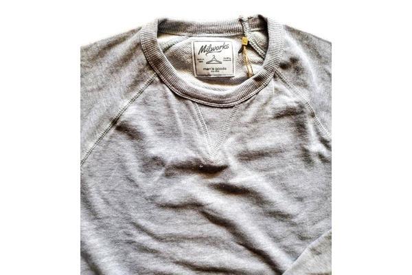 Milworks French Terry Crew Sweatshirt - Heather Grey