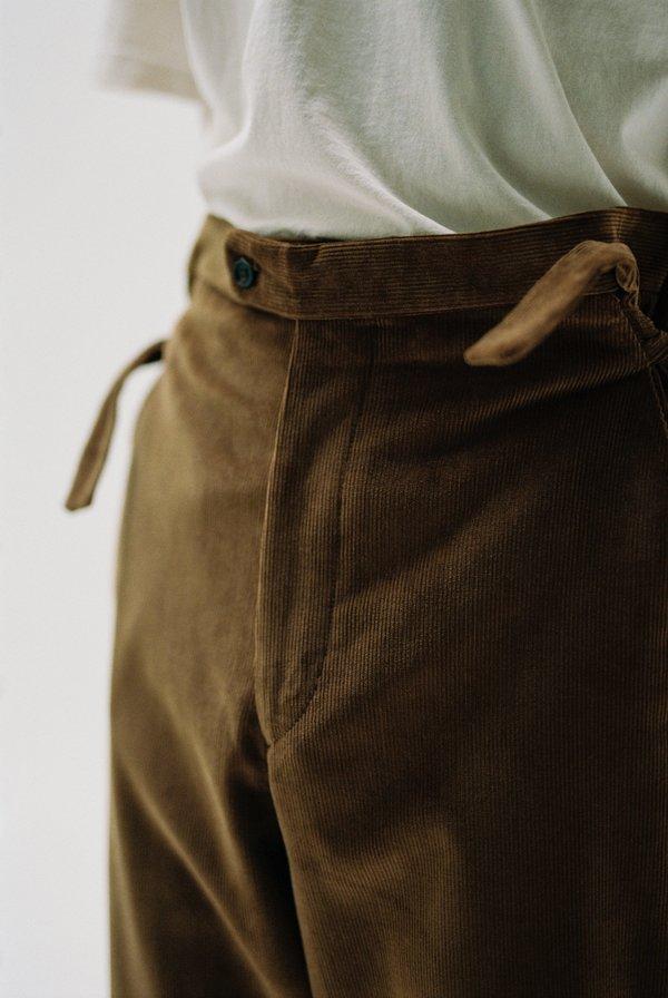BODE Corduroy Side Tie Trousers - Brown