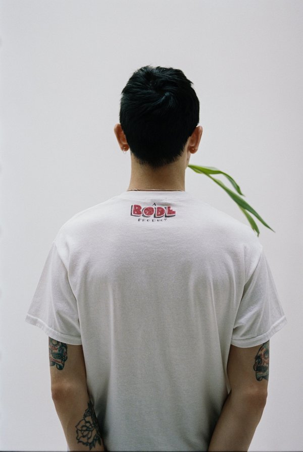 BODE Hand Drawn Bode Cow's Tail Tee - White