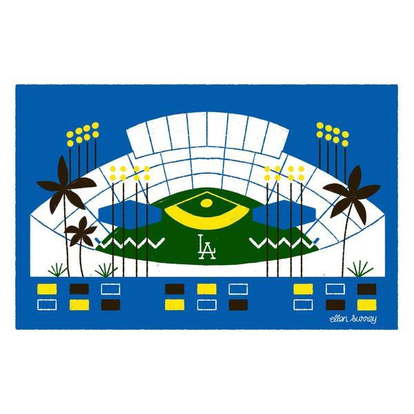 Ellen Surrey - Dodger Stadium - Framed Print