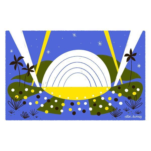 Ellen Surrey - Hollywood Bowl - Framed Print