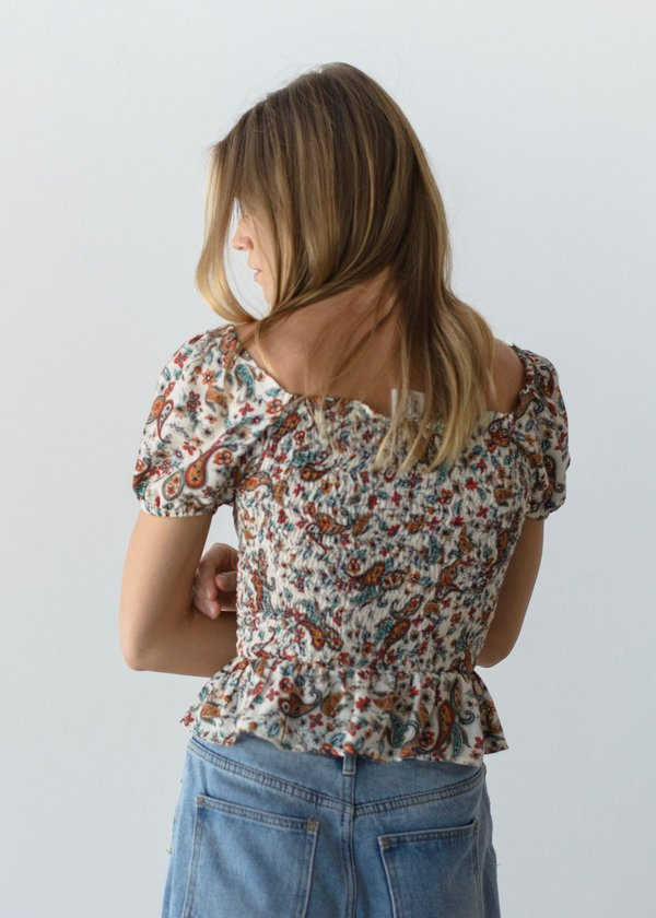 Mabel and Moss Laverne Paisley Top