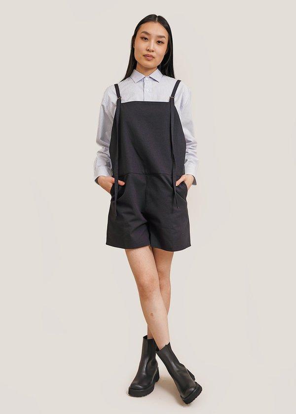 Baserange short Strap Overalls - black