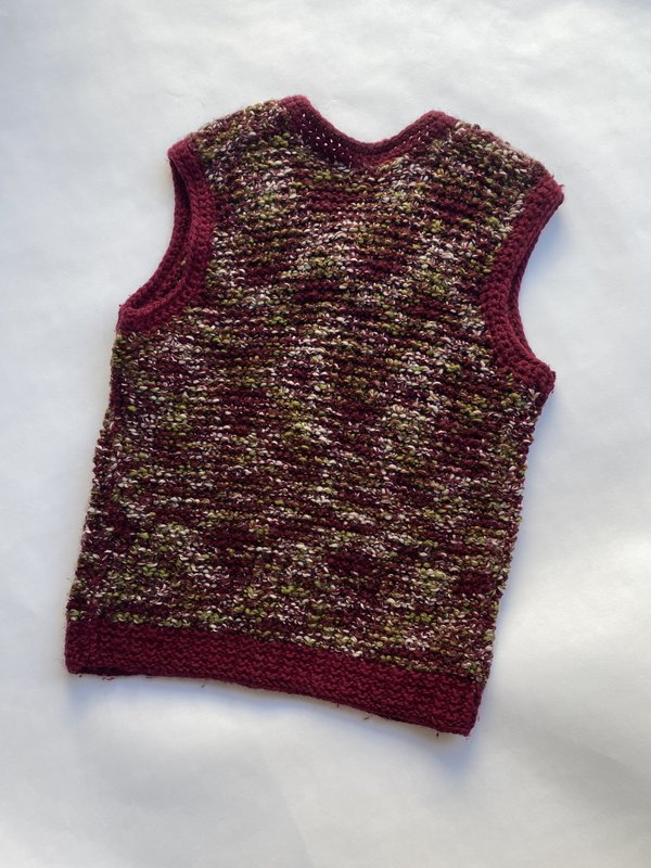 WOLF & GYPSY VINTAGE Hand Knitted Fleck Vest