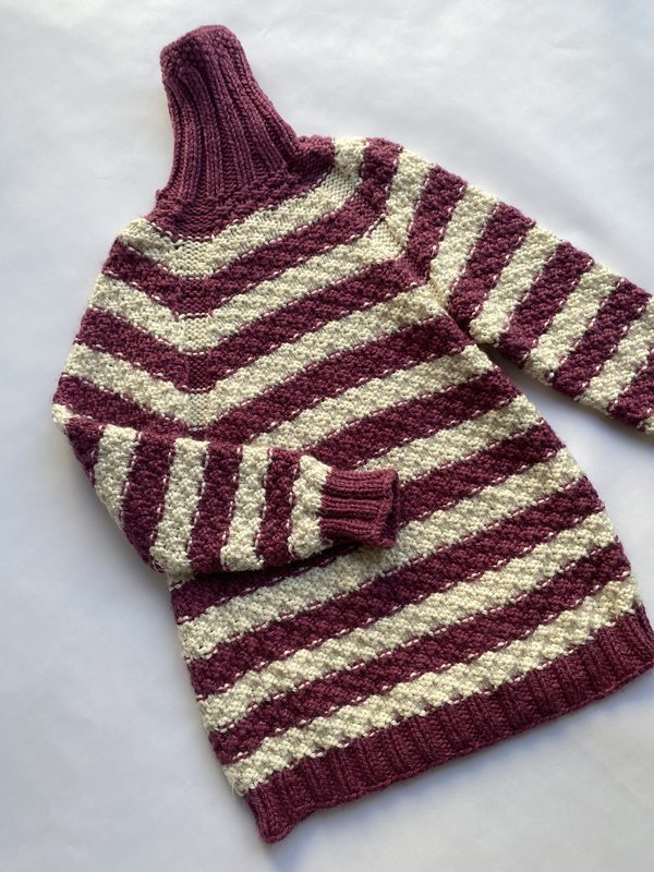 Hand Knitted Stripe Cardi