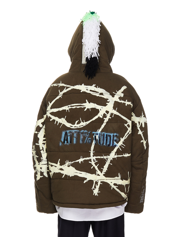 99% IS- Attitude Printed Jacket - Green