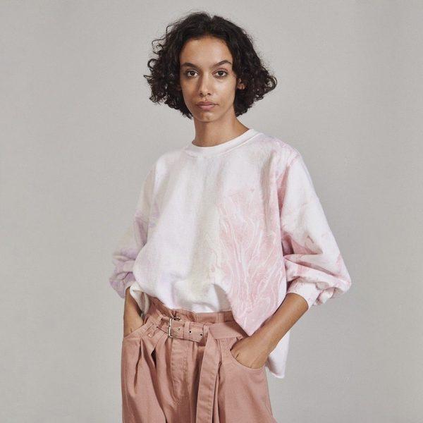 Rachel Comey Fond Sweatshirt - Lilac Marble Dyed
