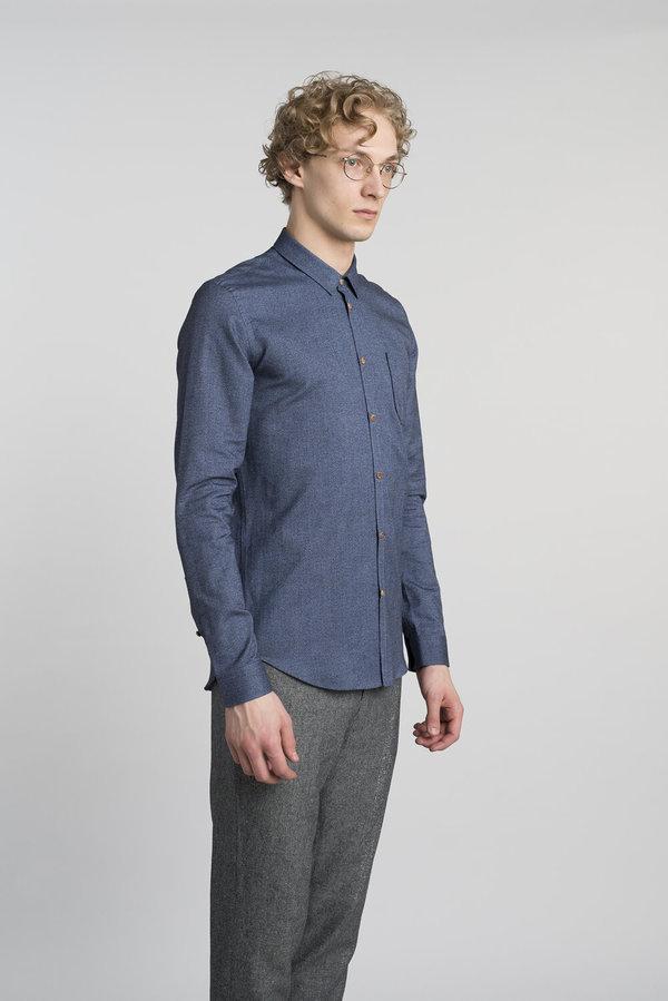Delikatessen Slim Shirt - Navy Blue