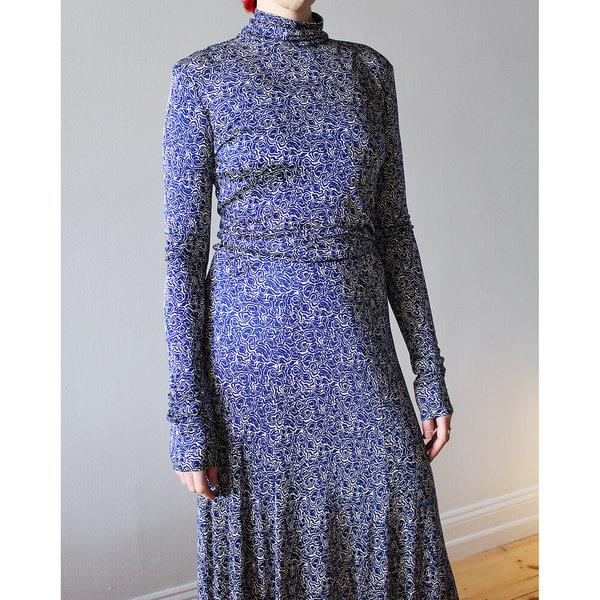 Rodebjer Inec Swirl Skirt - Picasso Blue