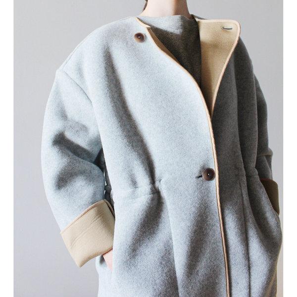 Rodebjer Tencha Coat - Grey Melange