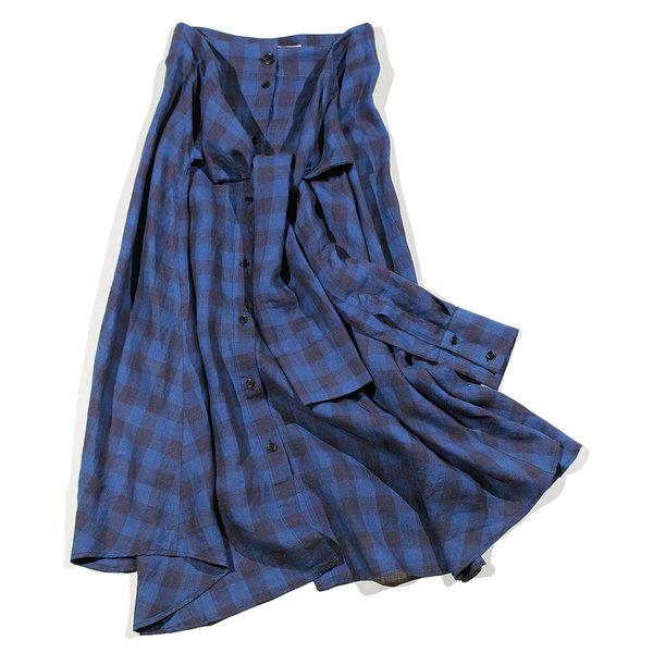 Henrik Vibskov Towel Shirt Skirt - Indigo Wash