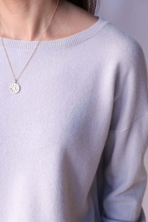 Nili Lotan Boyfriend Sweater - Smokey Grey