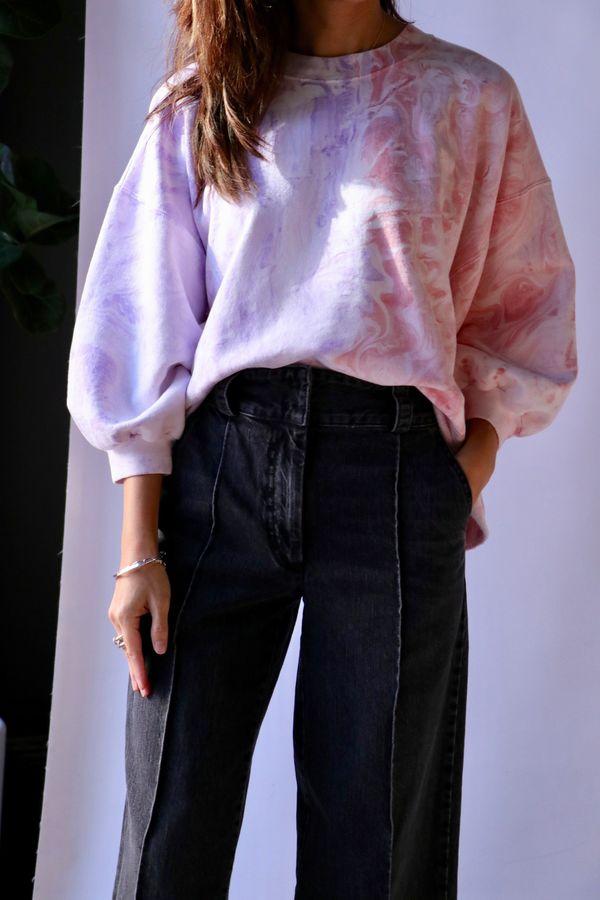 Rachel Comey Fond Sweatshirt - Lilac Marble Dyed Sweats
