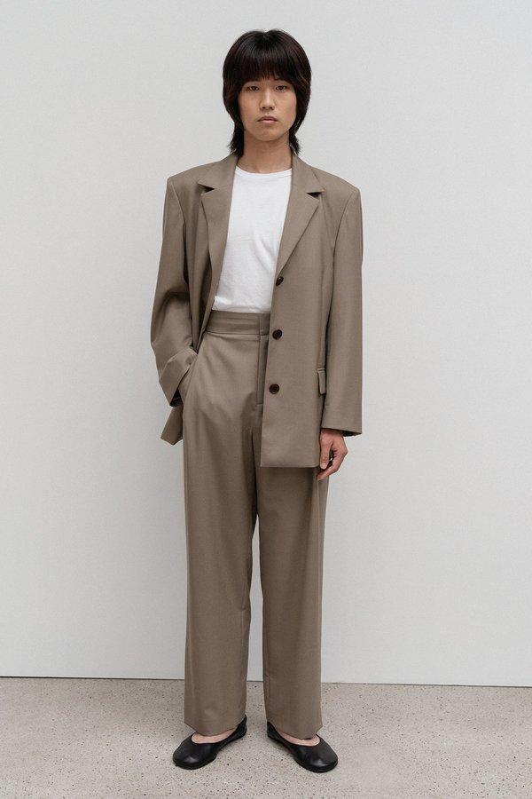 Amomento Wool Setup Pants - Beige
