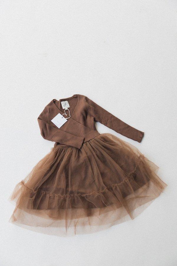 Kids Raised By Water Winter Sienna Dress - Brown