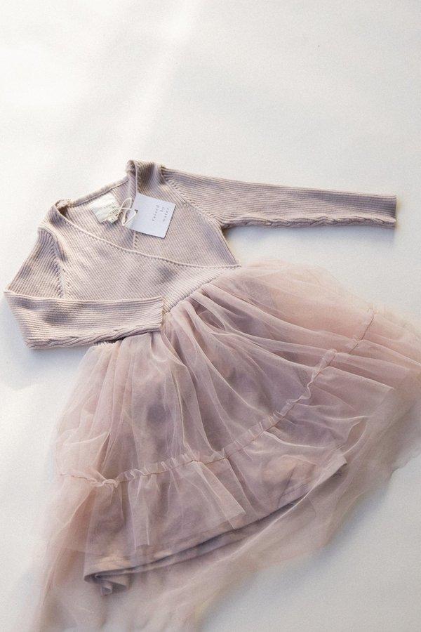 Kids Raised By Water Winter Sienna Dress - Smokey Lavender