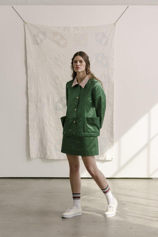 Carleen Loren Pocket Jacket - Green/Pink