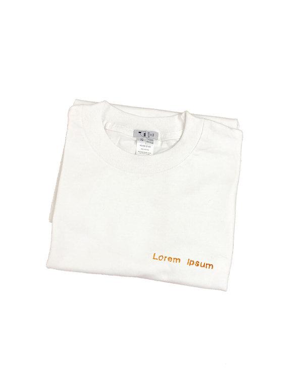 embroidery tee Lorem Ipsum shirt