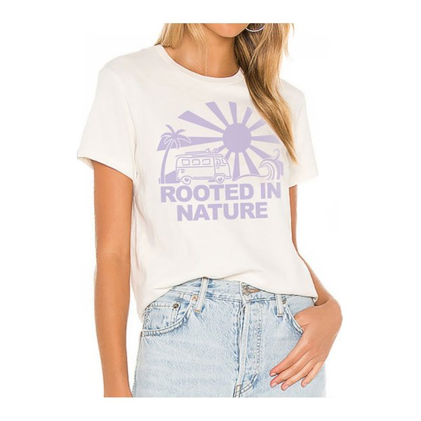 Farm Stand x Geige Silver Rooted  Nature Tee Shirt - White