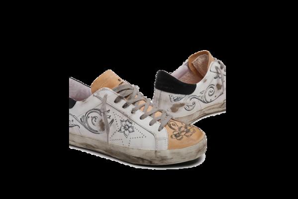 Golden Goose Superstar Skate Leather Upper Nabuk Heel GMF00105.F000485.10321 sneakers - Argentina Print