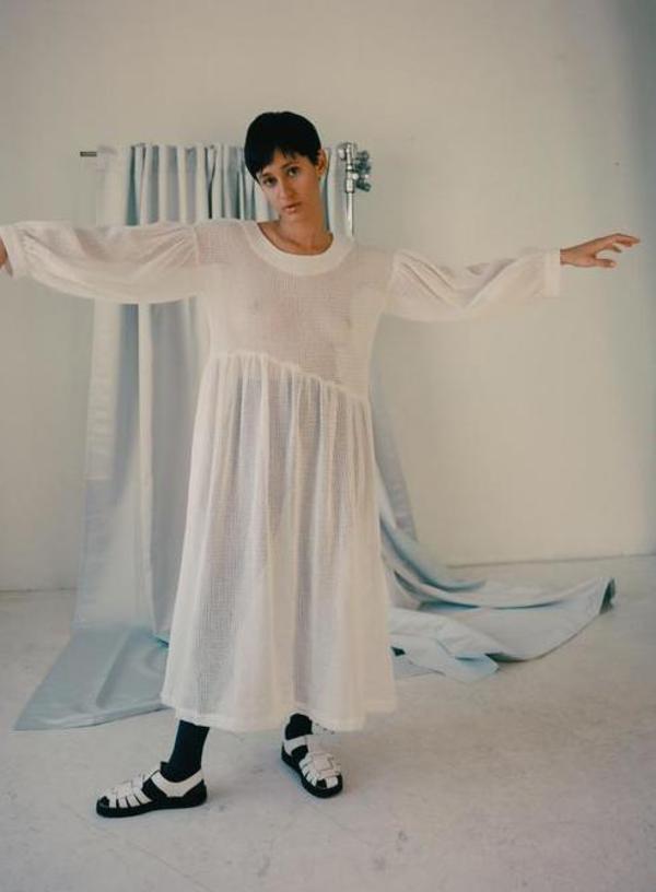 Et Tigre Jayme Dress - White Netting