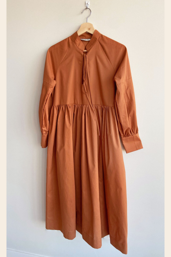 Bronze Age Cotton House Dress - Cinnamon