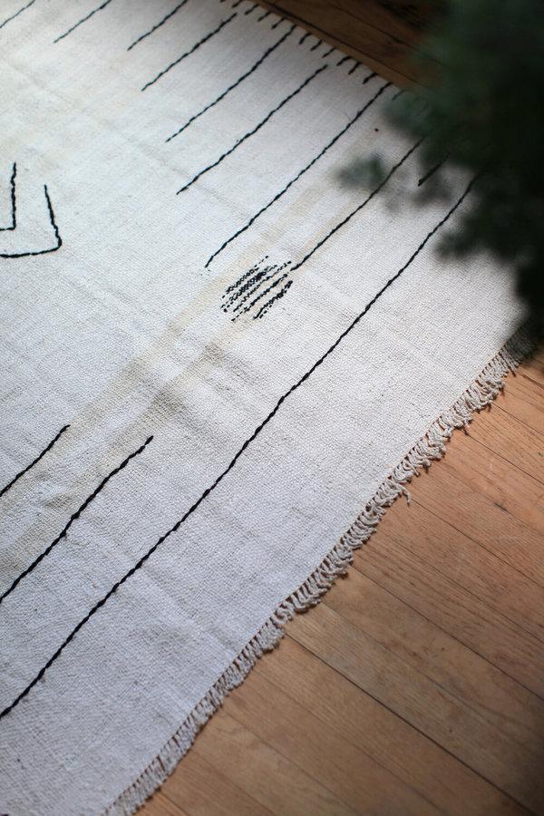 nomad collective Hand-stitched Turkish Kilim rug - Cream