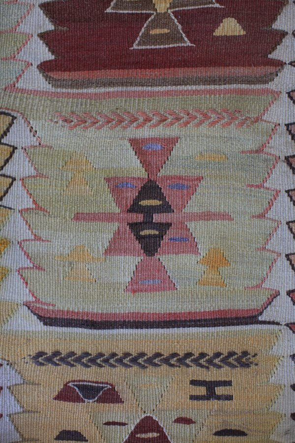 nomad collective Antique Turkish Tribal Kilim rug - multi